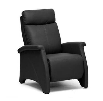 A-060-BLACK Baxton Studio Sequim Modern Recliner Club Chair  In