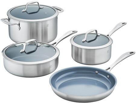 Zwilling 64080-000 Spirit 3-Ply 7-Pc Stainless Steel Ceramic Nonstick Cookware
