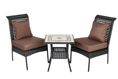 61545 Sonoran All Weather Wicker 3pc. Bistro Set with two All Weather Wicker Chairs and a 20