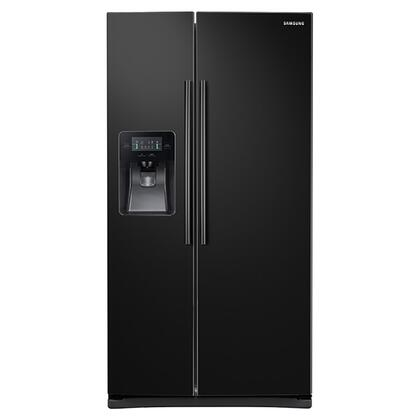 """RS25J500DBC 36"""" Side-By-Side Refrigerator with 25 cu. ft. Capacity  External Filtered Water and Ice Dispenser  LED Display  6 Temperature Sensors  and Door"""