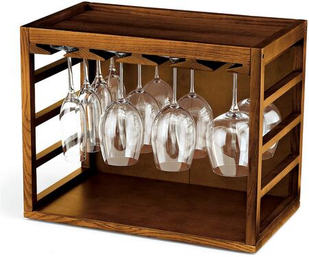 06400102 Cube-Stack Wine Glass Rack: Walnut