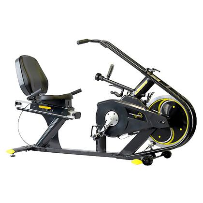 FF-300-MR100 Commercial Recumbent Magnetic Indoor Cycle with 16  Levels of Magnetic Resistance  Superior Crank System  Blue Backlit LCD and Steel Construction