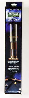 P0760 Billiard Cue Solid Hardwood Wall Rack for Six