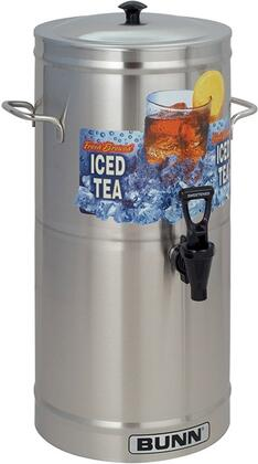 330000000 Cylinder Style Iced Tea and Coffee Dispenser with 3 Gallons Capacity  Side Handles  Full-Color Iced Tea Decal and Sump Dispense Valve  in Stainless