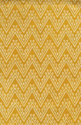 Bbdbd8870yewh0305 Bradberry Downs Bd8870-3 X 5 Hand-tufted 100% Premium Blended Wool Rug In Yellow   Rectangle