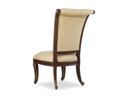 Grand Palais Series 5272-75510 43 inch  Traditional-Style Dining Room Upholstered Side Chair with Tufted Detailing  Carved Detailing and Fabric Upholstery in