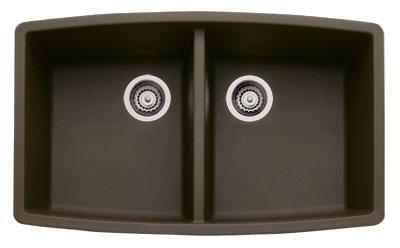 440068 Performa Silgranit Equal Double Bowl Kitchen Sink In Cafe