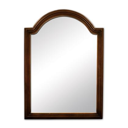 MIR029 Bath Elements 26 inch  x 36 inch  Walnut Compton Reed-frame Mirror with Beveled