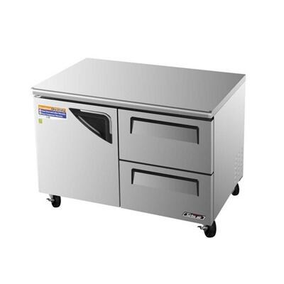 TUF48SDD2 1 Door + 2 Drawers Super Deluxe Series Undercounter Freezer with 12 cu. ft. Capacity  Efficient Refrigeration System  Stainless Shelves and Hot Gas