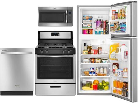 4-Piece Apartment Size Kitchen Appliance Package with WRT111SFDM 24