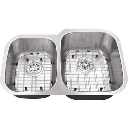 SC4060RV16 All-in-One Undermount Stainless Steel 30x19x9 0-Hole Double Bowl Kitchen