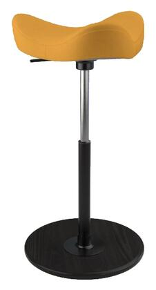 MOVE 2600 DINIMICA 9042 BLK HI BLK 26 inch  - 34 inch  Sit-Stand Chair with Dinimica Upholstery  9042 Color Code  Black Ash Base  High Lift Height and Black Gas