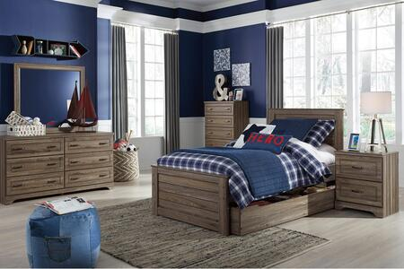Javarin Twin Bedroom Set With Storage Bed  Dresser  Mirror  2x Nightstands And Chest In Greyish