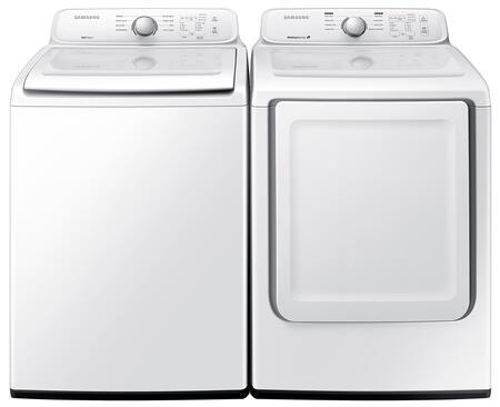 "White Top Load Laundry Pair with WA40J3000AW 27"""" Washer and DV40J3000GW 27"""" Gas"" 474342"