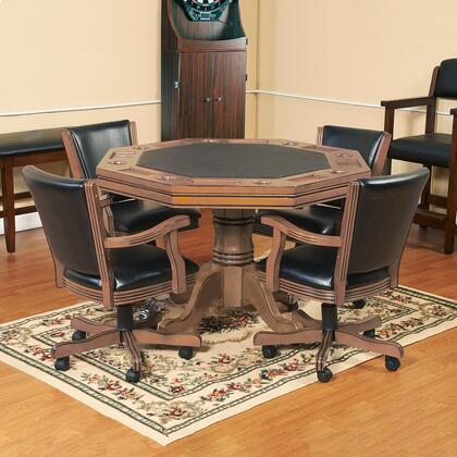 NG2351 Kingston Oak 3-In-1 Poker Table W/ 4 Arm 331165
