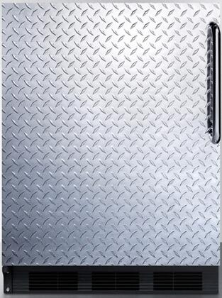 FF6BDPLLHD 24 inch  FF6 Series Medical Compact Refrigerator with 5.5 cu. ft. Capacity  Door Storage  Crisper  Glass Shelves and Left Hinge: Diamond Plated with Pro
