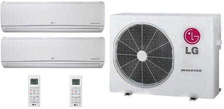 LMU24CHVPACKAGE39 Dual Zone Mini Split Air Conditioner System with 30000 BTU Cooling Capacity  2 Indoor Units  and Outdoor 706630
