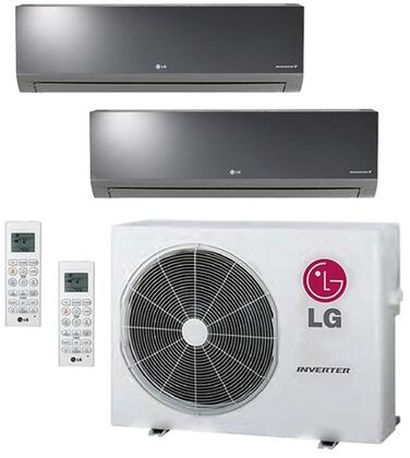LMU24CHVPACKAGE Dual Zone Mini Split Air Conditioner System with 18000 BTU Cooling Capacity  2 Indoor Units  and Outdoor 704030