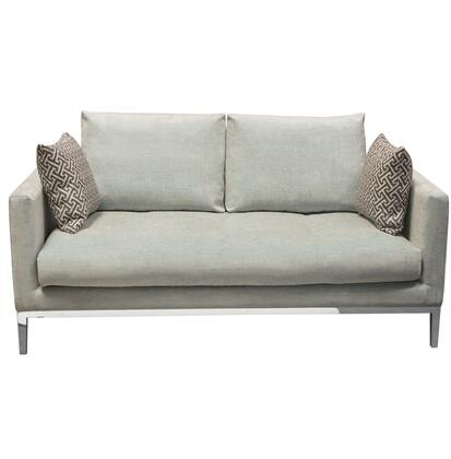 """Chateau_Collection_CHATEAULOSP_71""""_Loveseat_with_Fabric_Upholstery__Polished_Metal_Legs__Down_Seating_and_Sleek_Shelter_Arms_in_Sapphire"""