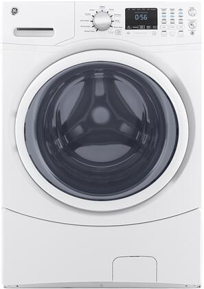 "GFW430SSMWW 27"" Front Load Washer with 4.5 cu. ft. Capacity  Delay Wash  Fabric Softener  LED Electronic Control  Leveling Leg  and Quick Wash  in"