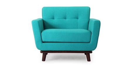 JACKIE1-TURQUOISE Jackie Mid-Century Modern Classic Chair  Turquoise Boucl   Cashmere
