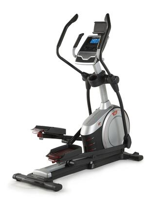 """PFEL57916 Endurance 720 E Elliptical with 19"""" Power Adjustable Stride  Commercial Gauge Solid Steel Construction  iFit Display and 1-20 Digital"""