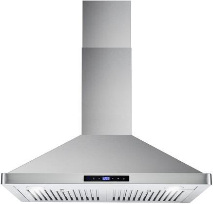 COS-63175S 30 inch  Wall Mount Range Hood with 760 CFM  3 Speed Touch Control with Digital Display  2 LED Lights and Dishwasher Safe Stainless Steel Baffle Filter