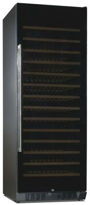 RW490SR 26 inch  Single Zone Wine Cooler with 194 Bottle Capacity  Adaptive Low Profile Wood Accented Wine Shelf  Double Paned UV Shielded Smoked Black Glass