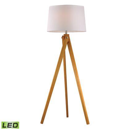 D2469-LED Wooden Tripod LED Floor Lamp in Natural Wood