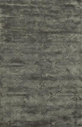 VILVT8784LY000508 Villa Travina VT8784-5' x 8' Hand-Loomed 100% Viscose Rug in Light gray  Rectangle