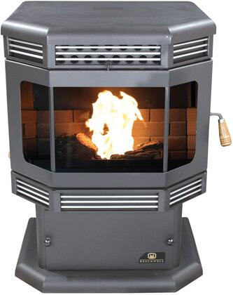 SP2700PS 45 000 BTU Mojave Black Pellet Stove with Heavy-Duty Steel Construction Automatic Fuel Feed Hot Rod Automatic Firestarter and Door in: Gold