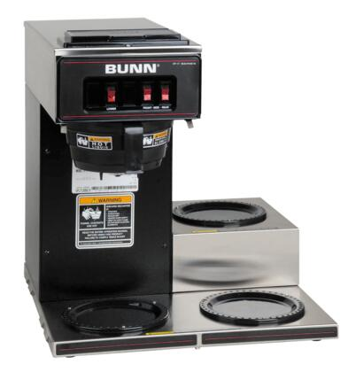 13300.0013 VP17- 12 Cup Low Profile Pourover Brewer with 3 Lower Warmers and SplashGuard Funnel in