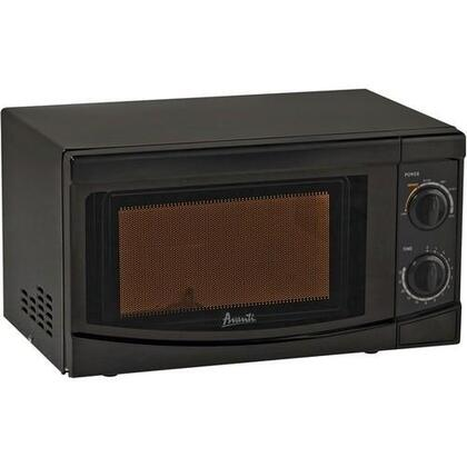 MO7082MB Countertop Microwave with 0.7 Cu. Ft. Capacity  Rotary Dial Knob Controls  30 Minute Cooking Timer amd Defrost Setting in