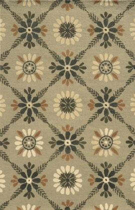 Rptrp876200040508 Rockport Rp8762-5 X 8 Hand-tufted 100% Premium Blended Wool  Rug In Beige   Rectangle