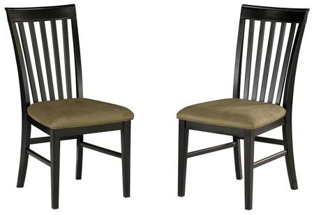 MISSIONDCCCES Mission Collection Set of 2 Dining Chairs with Cappuccino Seat Cushions: