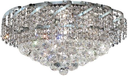 VECA1F20C/SS Belenus Collection Flush Mount D:20In H:12In Lt:8 Chrome Finish (Swarovski   Elements