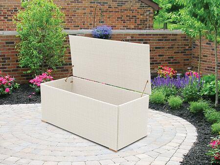 WBXW 63 inch  Wicker Storage Box in White