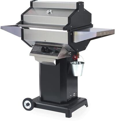 SDBOCN Natural Gas Grill with 25 000 BTU  400 sq. in. Cooking Area  Stainless Steel Grill Head  Cast Aluminum End Caps  Black Aluminized Column and Base with
