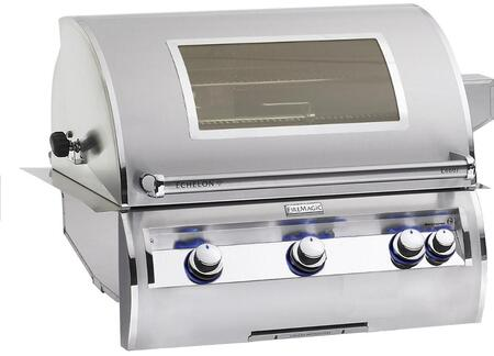 E660I4LANW Echelon Diamond Series Built In Gas Grill with 660 sq. in. Cooking Area  3 Burners  Double Wall Seamless 304 Stainless Steel Hood  and Analog