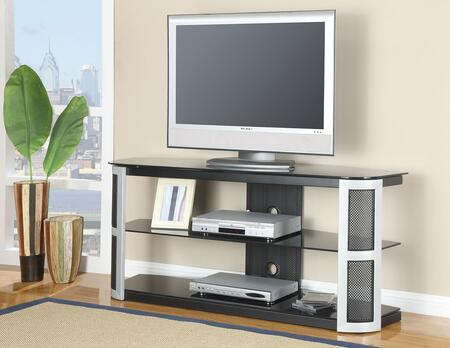 91032 Bardrick TV Stand with Glass Black Glass Top and