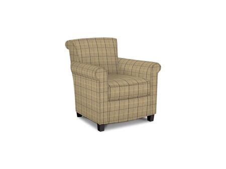 Roosevelt Collection 1148-02/BE91-8 31 inch  Accent Chair with Fabric Upholstery  Rolled Tight Back  Welted Sock Arms and Contemporary Style in Woven Plaid