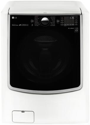 "WM5000HWA 27"""" Front Load Washer with 4.5 Cu. Ft. Ultra Large Capacity  On-Door Control Panel  Elevated Angled Door  TurboWash Technology  and Twin Wash"" 653113"