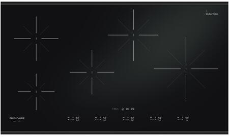 "Gallery FGIC3667MB 36"" Induction Cooktop With Versatile Induction Elements Exceptional Temperature Control Power Assist Function Cooking Versatility Hot"