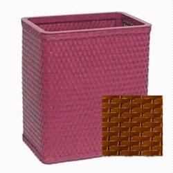 S426NM Chelsea Collection Decorator Color Square Wicker Wastebasket in