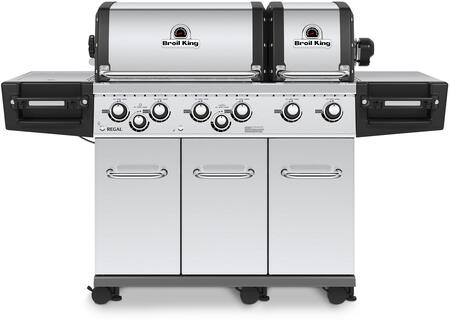 957347 REGAL XLS PRO Natural Gas Grill with 6 Burners  60000 BTU Main Burner Output  750 sq. in. Cooking Area  10000 BTU Side Burner  15000 BTU Rotisserie