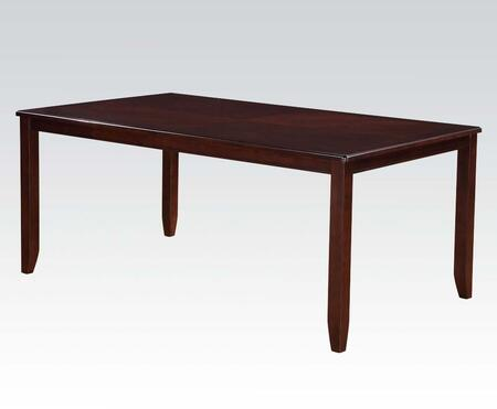 Oswell Collection 71595 72 inch  Dining Table with Rectangular Top  Tapered Legs  Solid Rubberwood and Medium-Density Fiberboard
