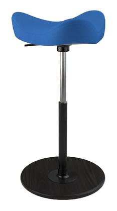 MOVE 2600 DINIMICA 9073 BLK HI BLK 26 inch  - 34 inch  Sit-Stand Chair with Dinimica Upholstery  9073 Color Code  Black Ash Base  High Lift Height and Black Gas