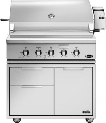 Freestanding Grill with BH1-36RGI-N 36 inch  Natural Gas Grill on CAD1-36 Grill