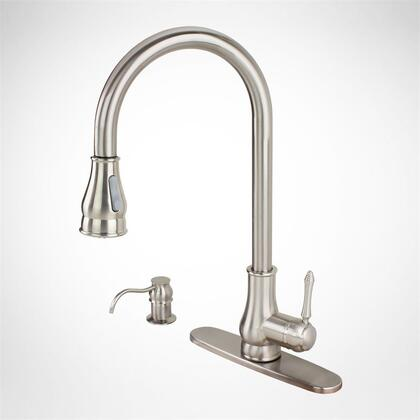 82H17-BN Contemporary Kitchen Sink Faucet Pull-Out Spray Swivel Spout Dispenser