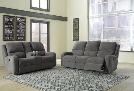 Krismen Collection 78102SL 2-Piece Living Room Set with Motion Sofa and Loveseat in